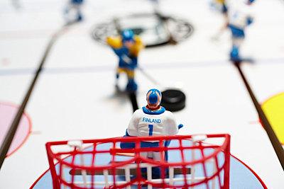 Ice hockey game Sweden vs Finland Close-up. - p31221435f by Per Makitalo