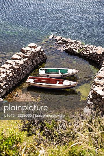 Peru, Boote am Titicacasee - p1643m2229385 von janice mersiovsky