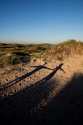 Junges Paar den in Dünen - p1212m1168704 von harry + lidy