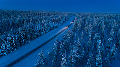 Country road at winter - p312m1556968 by Hans Berggren