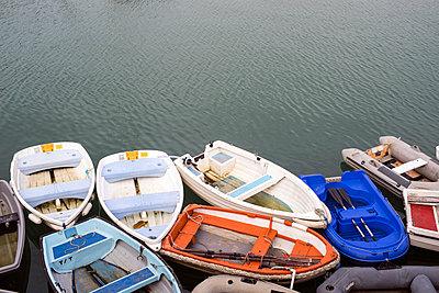 Harbour Rowing Boats - p1309m1169171 by Robert Lambert