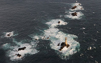 Longships Lighthouse - p1048m1069158 by Mark Wagner