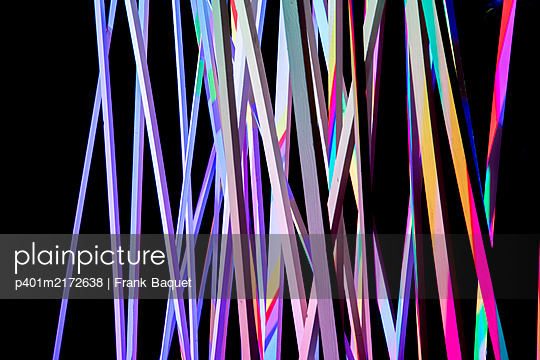 Illuminated wooden slats - p401m2172638 by Frank Baquet