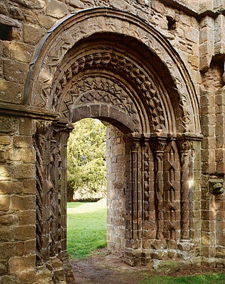 Lilleshall Abbey. Processional doorway to the Nave from the Cloisters. - p8551767 by Paul Barker