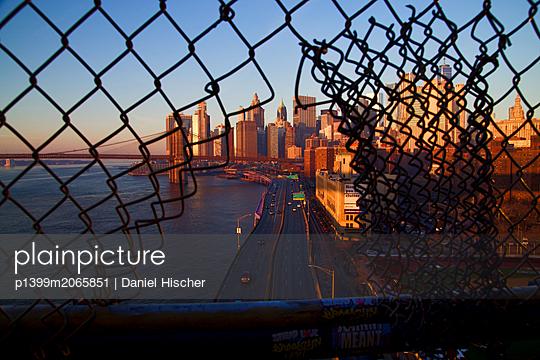 Blick von der Manhattan Brücke - p1399m2065851 von Daniel Hischer