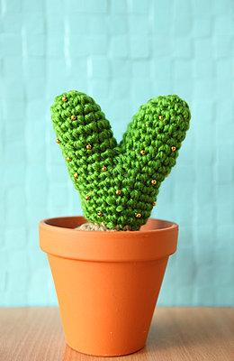 Liebes-Kaktus aus Wolle - p045m853508 von Jasmin Sander