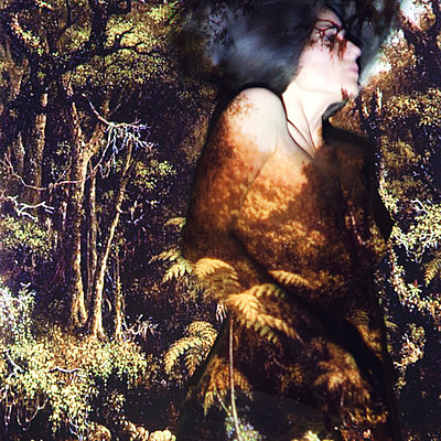 CGI, Woman in forest - p1150m1502087 by Elise Ortiou Campion