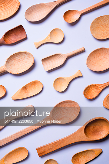 Wooden spoons - p1149m2263650 by Yvonne Röder