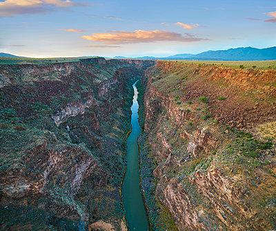River in gorge, Rio Grande Gorge, Rio Grande del Norte National Monument, New Mexico - p884m1356935 by Tim Fitzharris