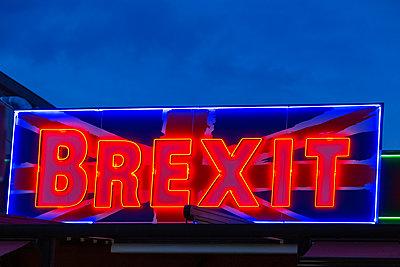 Brexit neon sign - p1596m2204670 by Nikola Spasov