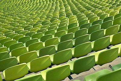Empty stadium seats - p3005062f by Tom Hoenig