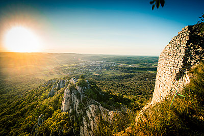 Sunrise at Pic Saint-Loup - p829m972332 by Régis Domergue