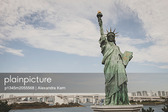 Statue of Liberty in Tokyo - p1345m2055568 by Alexandra Kern
