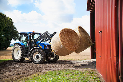 Tractor carry bale of hay - p312m956909f by Lina Karna Kippel