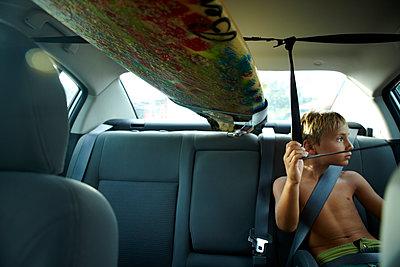 Boys Car Surfboard - p1260m1072171 by Ted Catanzaro