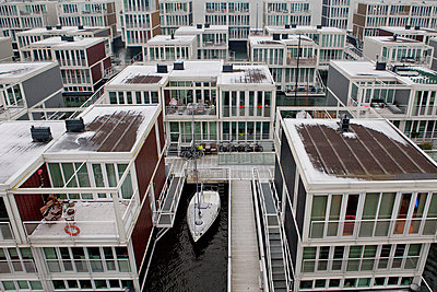 Amsterdam, Floating houses - p1253m1077865 von Joseph Fox