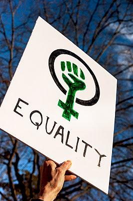 Person holding board at Women's March - p343m1447141 by Joseph De Sciose