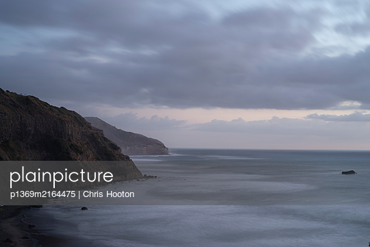Muriwai after sunset - p1369m2164475 by Chris Hooton