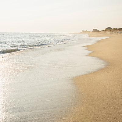Empty beach and sea - p1427m2254884 by Chris Hackett