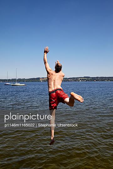 Sprung ins Wasser - p1146m1165022 von Stephanie Uhlenbrock