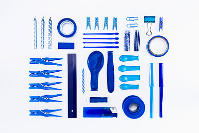 Collection of blue objects - p1149m1590489 by Yvonne Röder