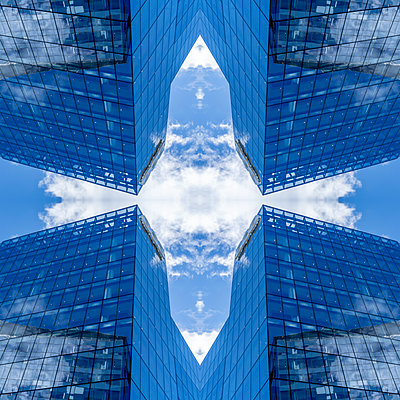 Abstract Architecture Kaleidoscope Boston - p401m2221901 by Frank Baquet