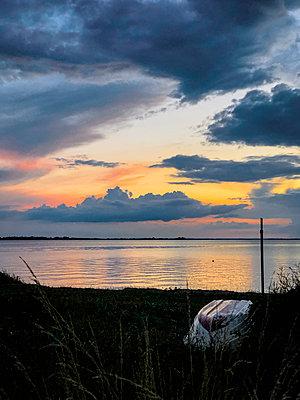 Boat on the Baltic Sea beach - p382m2283969 by Anna Matzen