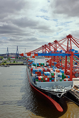 Container port Hamburg - p1099m882851 by Sabine Vielmo