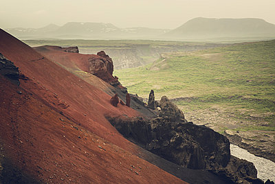 Rock formation, Iceland - p1084m986784 by Operation XZ