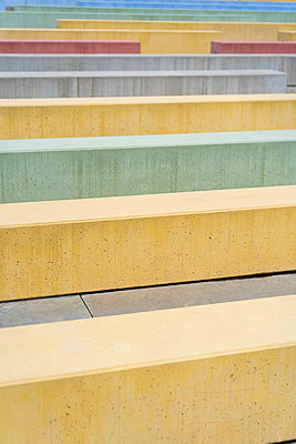Colorful concret urban archictecture structures on city during daylight - p1166m2094220 by Cavan Images