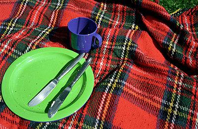 Picknick auf Decke - p2370032 von Thordis Rüggeberg