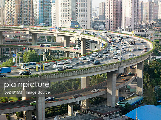 Elevated highway in shanghai - p9249155f by Image Source