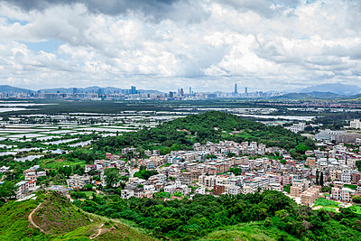 Shenzhen from Nam Sang Wai hill, Hong Kong - p1558m2132818 by Luca Casonato