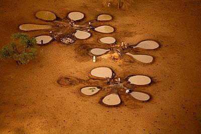 Chad, Zakouma National Park, Water wells for animals in Gara - p300m1120523f by David Santiago Garcia