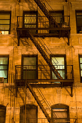 Upward View of Tenement on Manhattan's Lower East Side at Night - p5690180 by Jeff Spielman