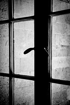 Old Wood and Glass Door Window - p1072m957369 by Tal Paz-Fridman