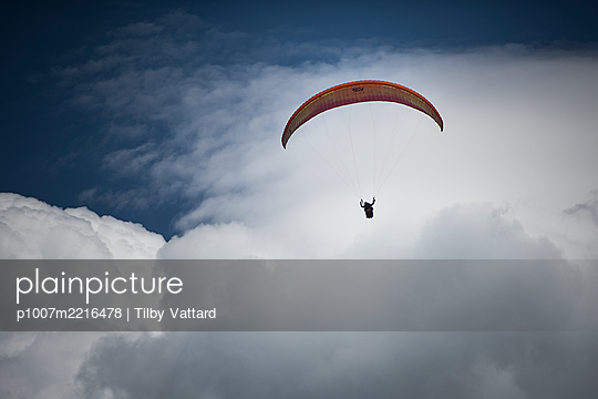 France, Aravis, Paragliding in the Alps - p1007m2216478 by Tilby Vattard