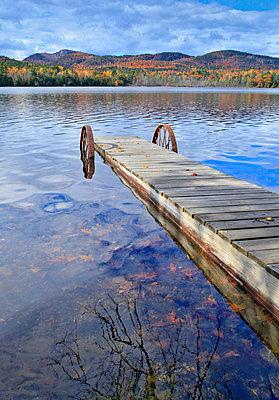 Poke-o-moonshine Mountain Beyond The Far Shoreline Of Long Pond - p343m1218026 by Johnathan Ampersand Esper