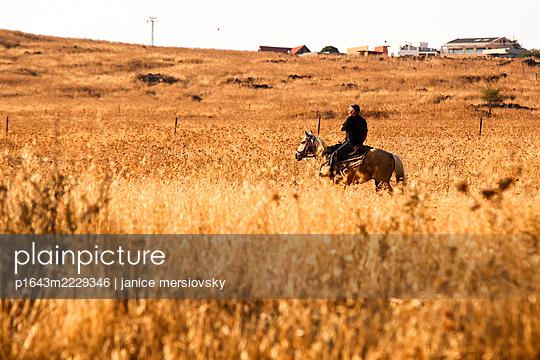 Israel, Mann auf einem Pferd - p1643m2229346 von janice mersiovsky