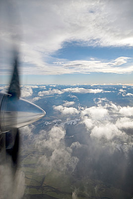 Propeller and clouds - p1125m917362 by jonlove