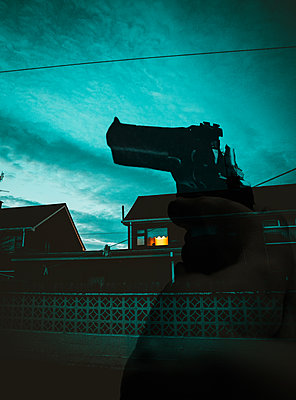 Firearm in residential area - p1681m2263270 by Juan Alfonso Solis