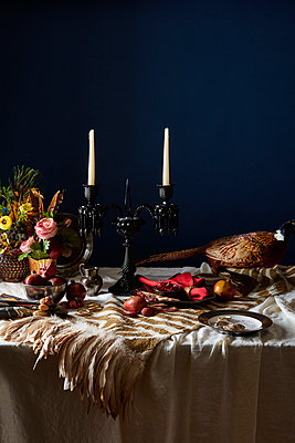 dutch masters tablescape - p1379m1525394 by James Ransom