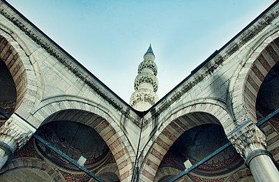 Blaue Moschee, Minarett  - p1445m2134273 von Eugenia Kyriakopoulou