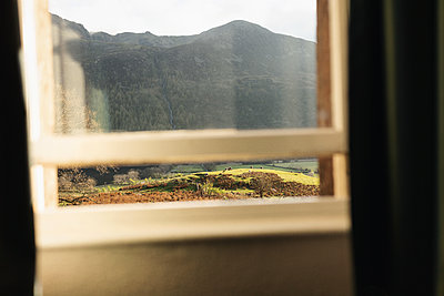 Looking out of window - p1477m2038956 by rainandsalt