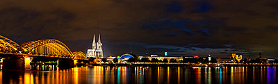 View of Cologne Cathedral and Hohenzollern Bridge with River Rhine - p30020764f by Fotofeeling