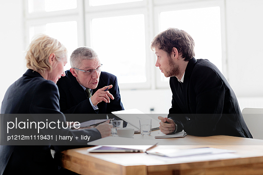 Businessteam - Besprechung V - p1212m1119431 von harry + lidy