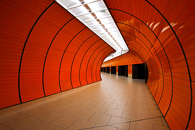 Metro station in Munich - p1399m1442190 by Daniel Hischer
