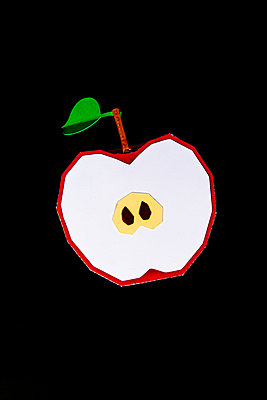 Half apple - p451m2263515 by Anja Weber-Decker