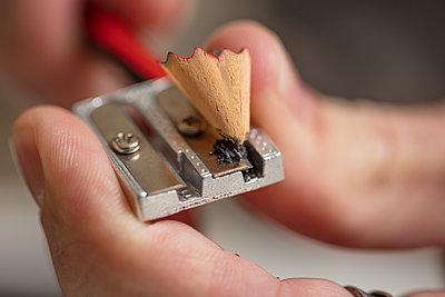 Detail of sharpening a pencil - p300m2013312 von zerocreatives