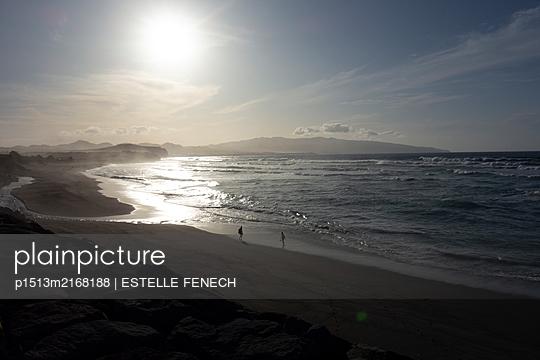 Sunset on an azores beach - p1513m2168188 by ESTELLE FENECH